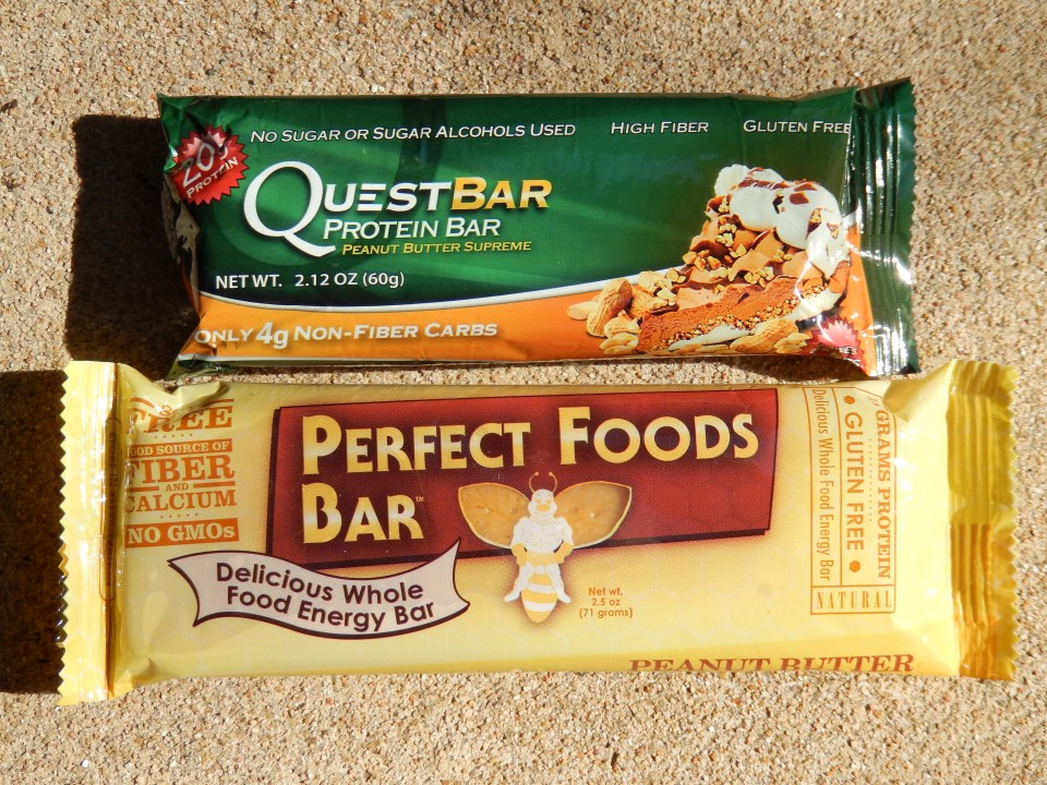 Comparing Quest's Peanut Butter Supreme bar to Perfect Foods Peanut Butter bar