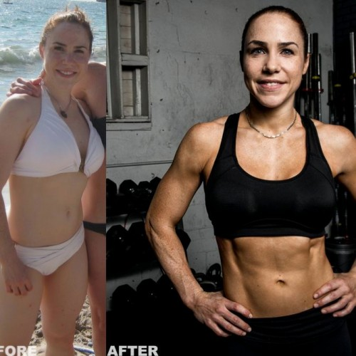 1 year CrossFit Before and Afters